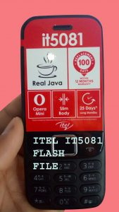 ITEL IT5081 FLASH FILE