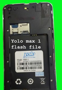 Yolo max 1 firmware flash file MT6580 5 1 (without password