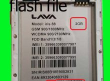 Lava Iris 88 2GB RAM flash file