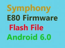 Symphony E80 Flash File