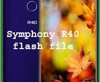 Symphony R40 flash file