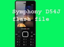 Symphony D54J flash file