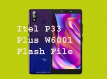 Itel P33 Plus W6001 Flash File