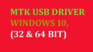 MTK USB DRIVER WINDOWS