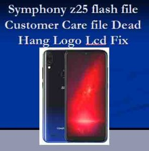 SYMPHONY Z25 FLASH FILE SPD HANG LOGO FIX